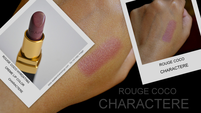 Les Essentiels de Chanel Makeup Collection Fall 2012 Beauty Blog Swatches Charactere Lipstick