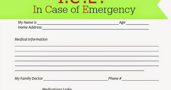 in case of emergency forms
