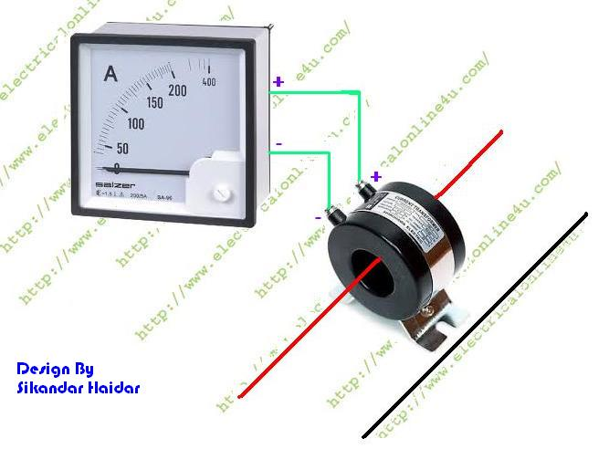 ammeter%2Bwiring%2Bwith%2BCT%2Bcoil%2Bdiagram how to wire ammeter with current transformer (ct coil Wiring with 12 3 Wire at virtualis.co