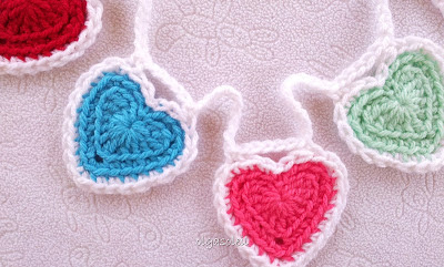 Crochet Heart Bunting 1