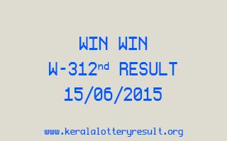 WIN WIN W 312 Lottery Result 15-6-2015