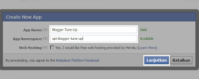 Mengisi Form Aplikasi Facebook
