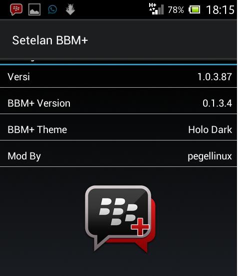 Versions BBM Plus Mod V0.1.3.4