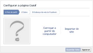 Configurar Página Facebook