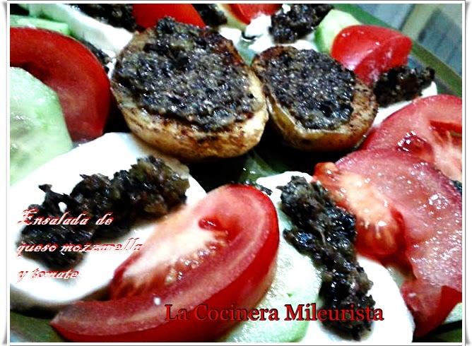 Ensalada De Queso Mozzarella Y Tomate
