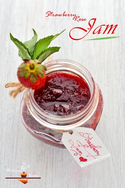 No Pectin/Preservatives Jam | Strawberry Rose Jam Recipe