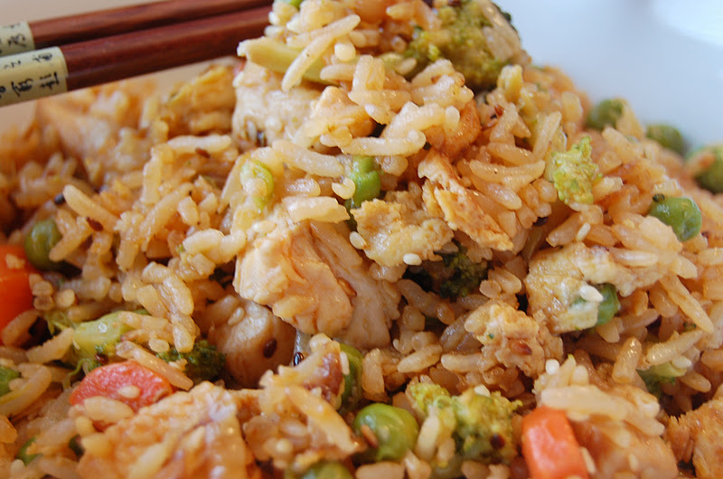 ... ....and A Lot About Food!: Ginger-Chicken Vegetable Fried Rice