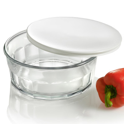 glass bowl with lid, for food storage