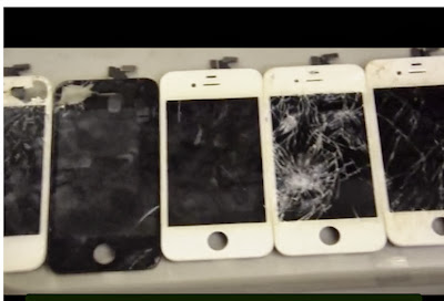 broken cell phone screens
