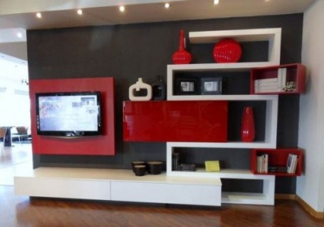 LCD TV furniture book shelf designs ideas. | An Interior Design