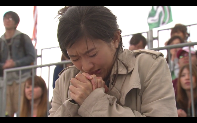 Last Cinderella - Sakura prays for Hiroto's success at the BMX Competition