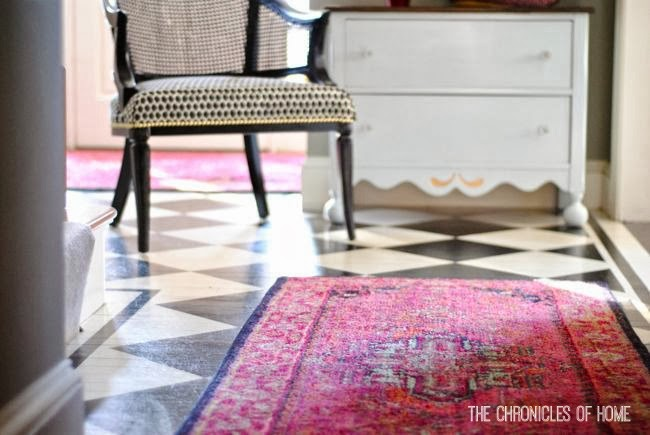 Bright Rug With A Checkerboard Entryway Floor   The Chronicles Of Home