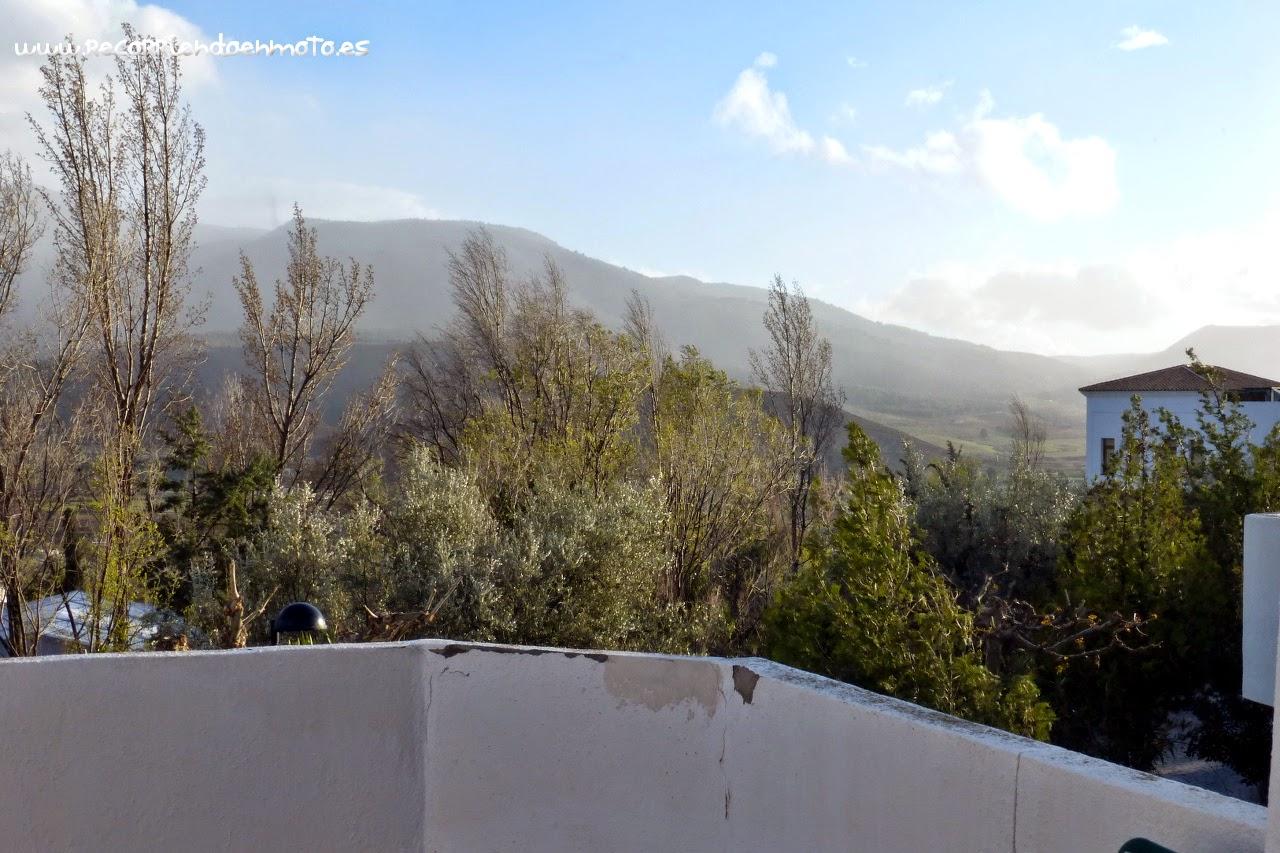 Viento huracanado terraza