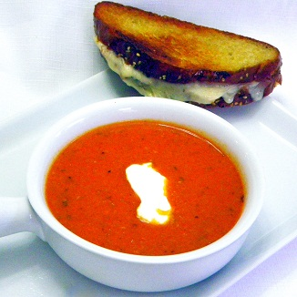 Inspired By eRecipeCards: Spicy Sriracha Tomato and Blue Cheese Soup