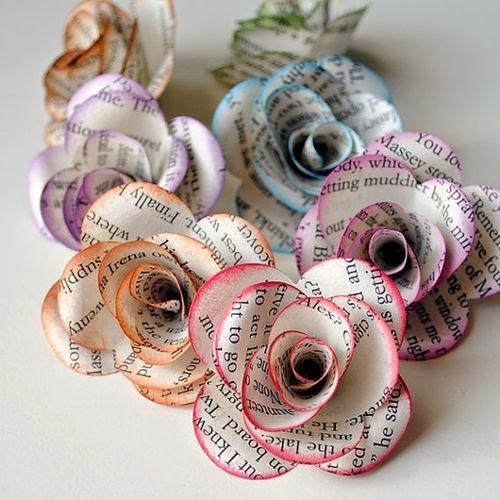 Flores con Papel Reciclado, Ideas para el Dia de la Madre