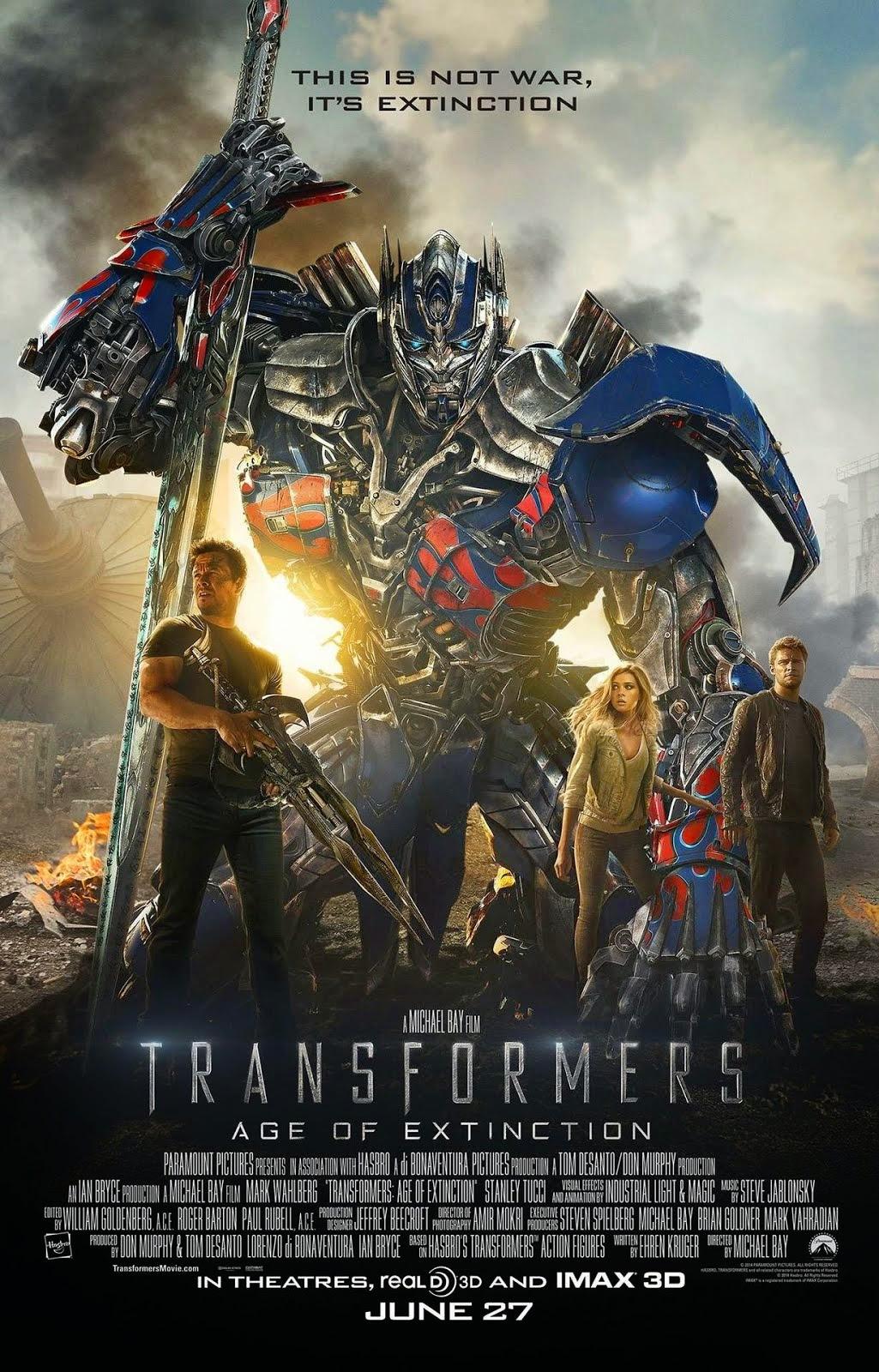Afiche de Transformers la Era de la Extinción