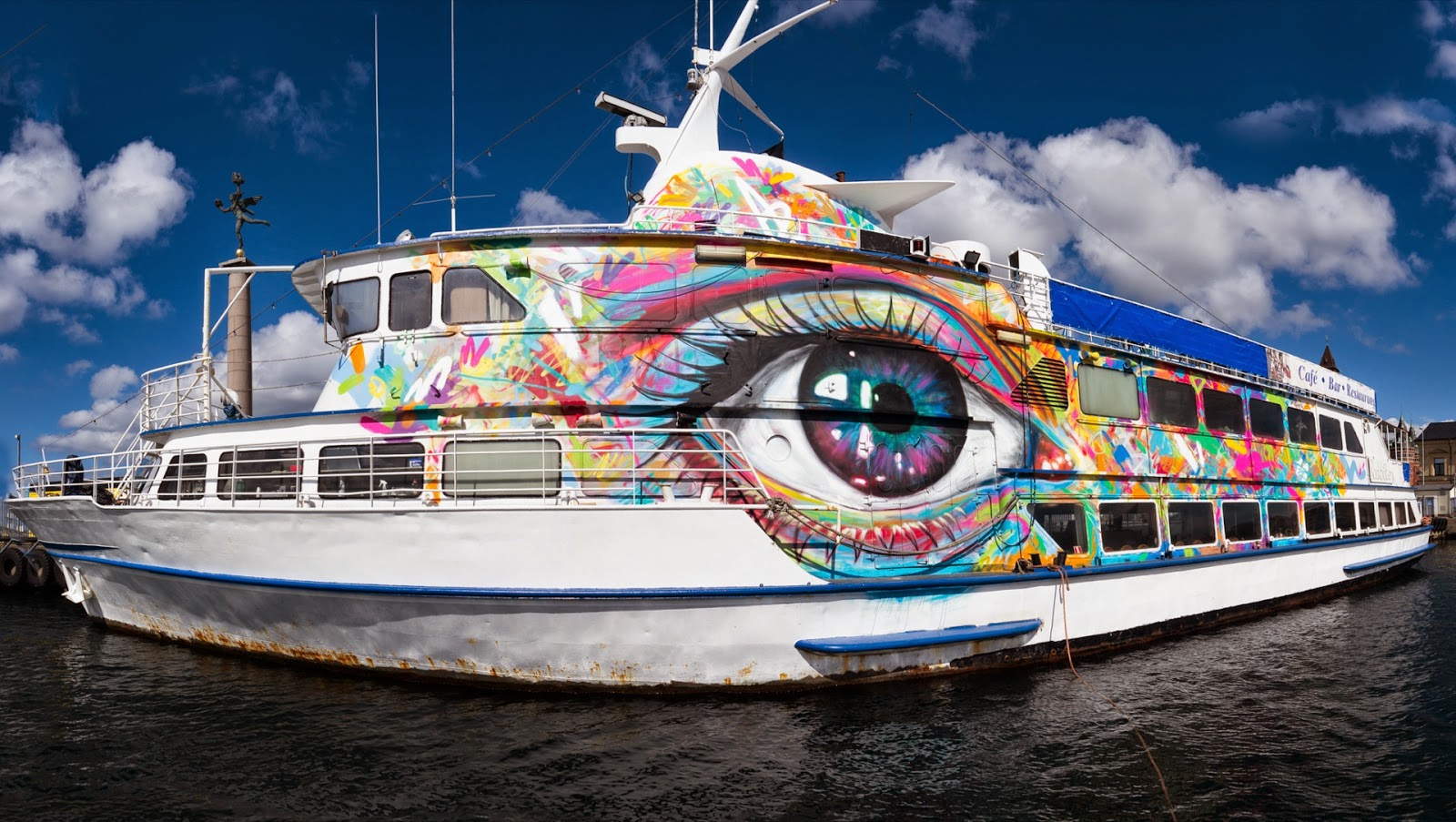 David Walker recently spent some time in Helsingborg, Sweden where he was invited to paint on an unusual canvas for the Add More Colors Festival