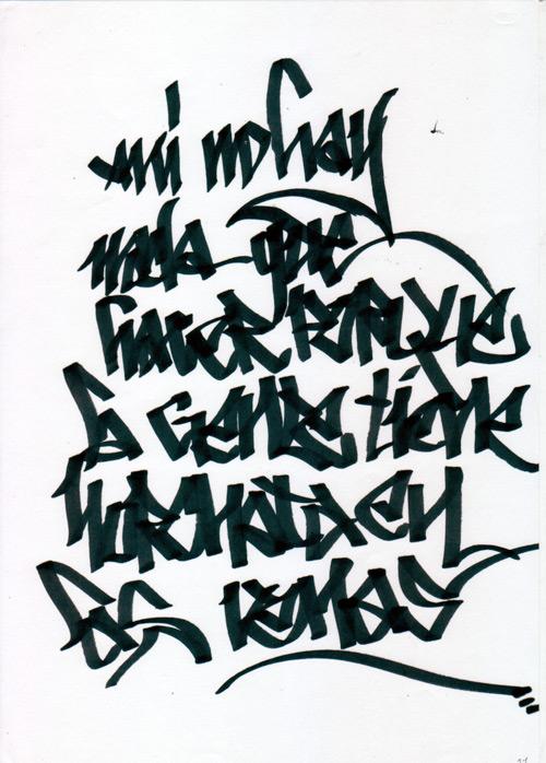 Tipografias Letras de Graffiti || Graffiti Tutorial