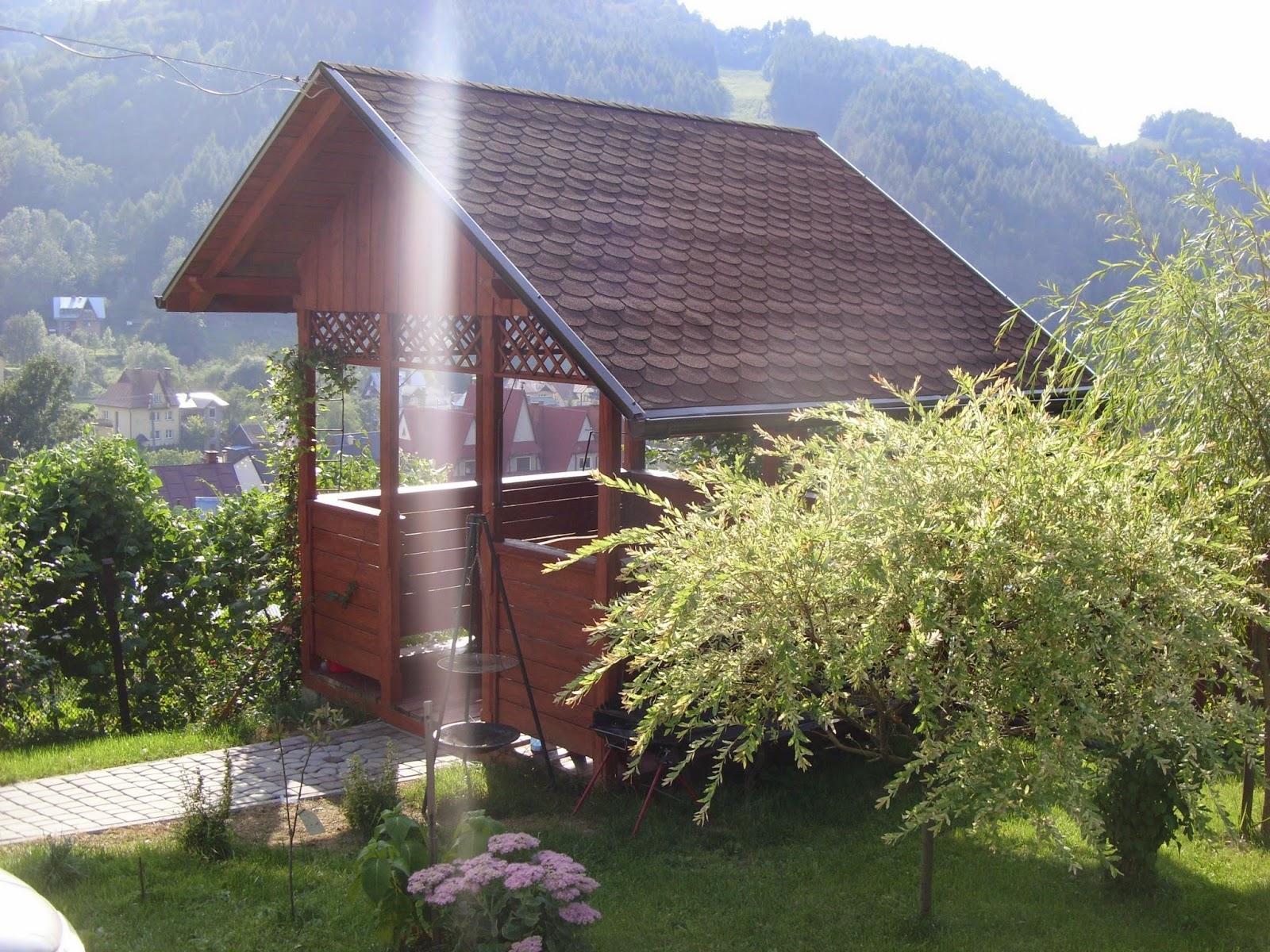 pokoje studio w Szczawnicy z altaną