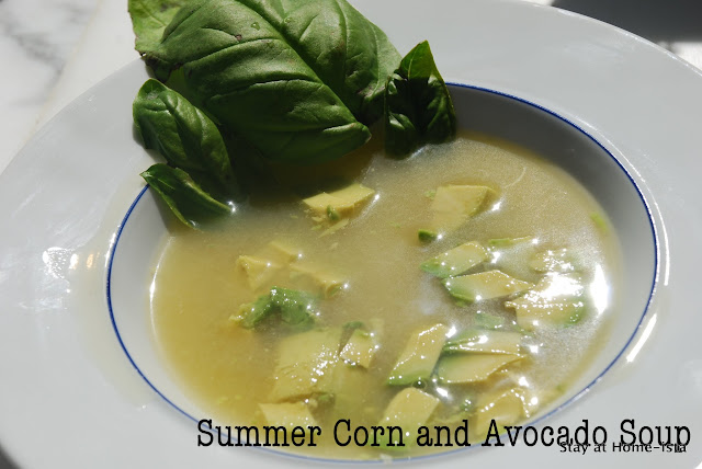 corn and avocado soup
