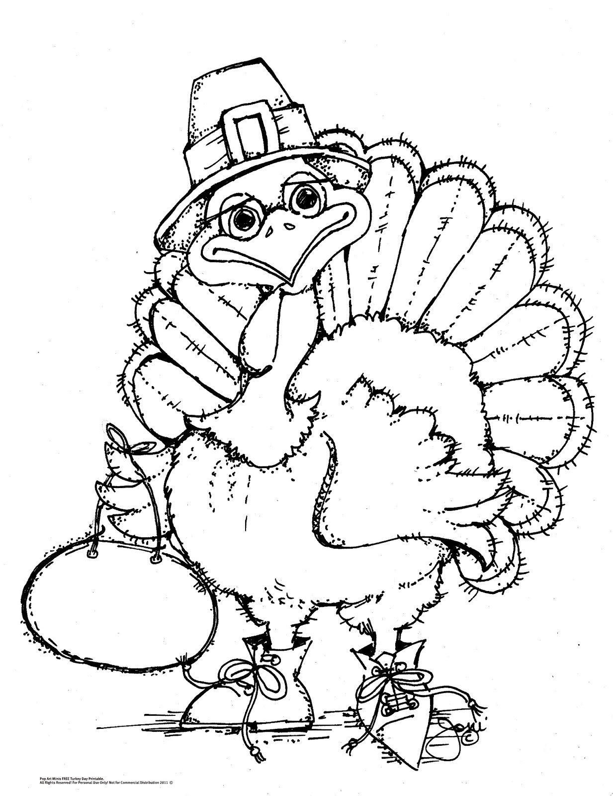It's just a picture of Crush Turkey to Color Free Printable