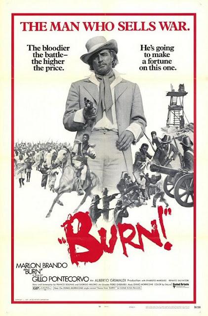 queimada aka burn poster starring marlon brando, directed by gillo pontecorvo