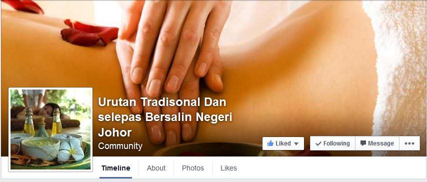https://www.facebook.com/pages/Urutan-Tradisonal-Dan-selepas-Bersalin-Negeri-Johor/1474743629449942?sk=timeline