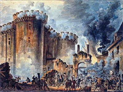 Pintura Toma de la Bastilla de Jean-Pierre Houel 14 de julio de 1789