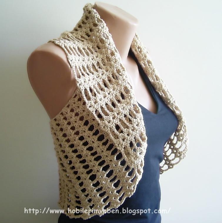 Cute Bolero Free Crochet Patterns : Nos e Linhas: O BONITO DEVE SER MOSTRADO