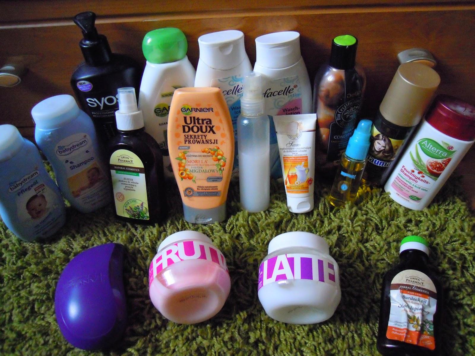 Kosmetyki którymi aktualnie pielęgnuje włosy Czerwiec 2014