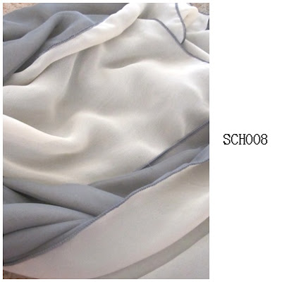 shawl chiffon 2 layer grey, kuning cair