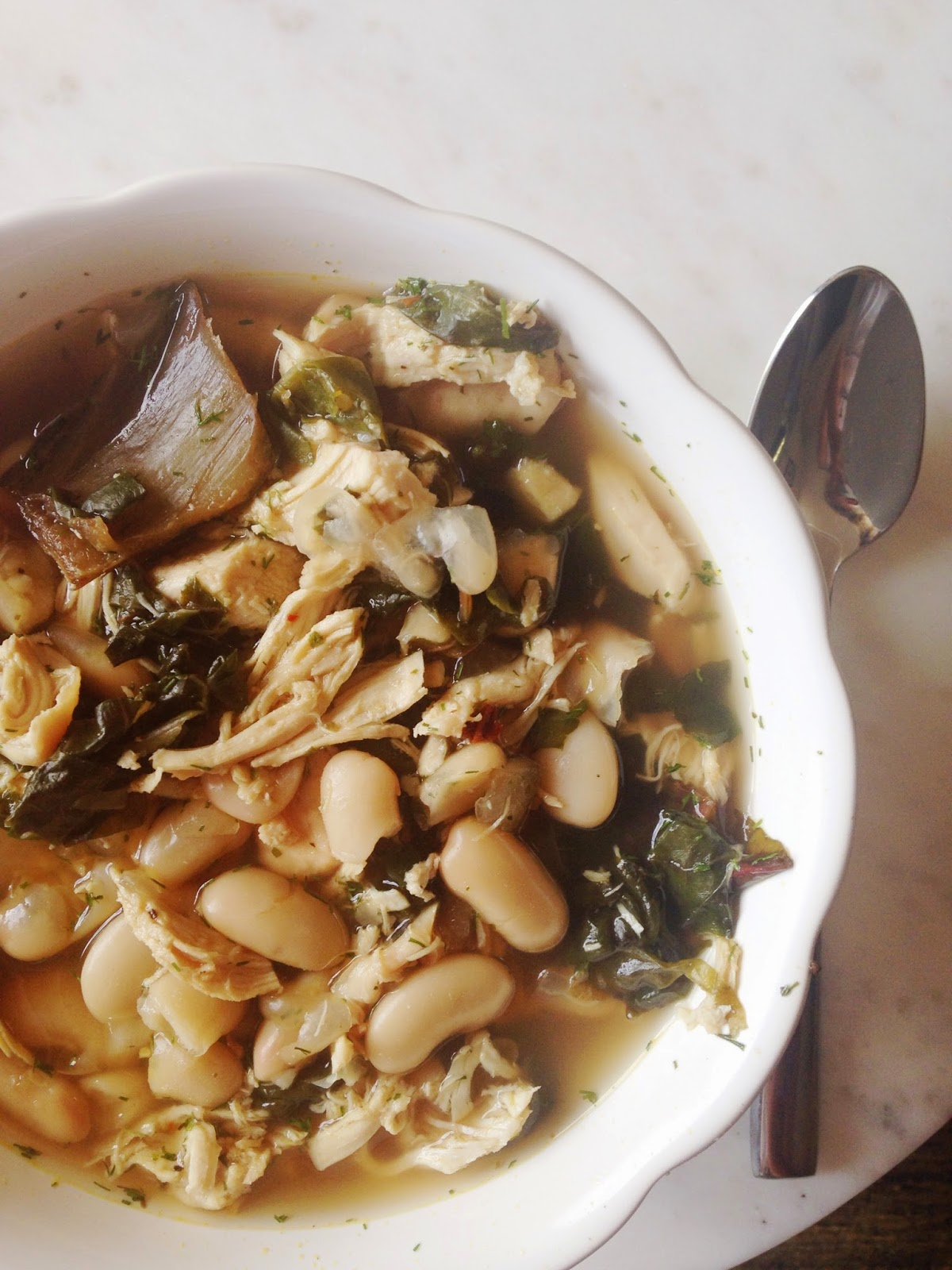White Bean, Leafy Green & Chicken Soup