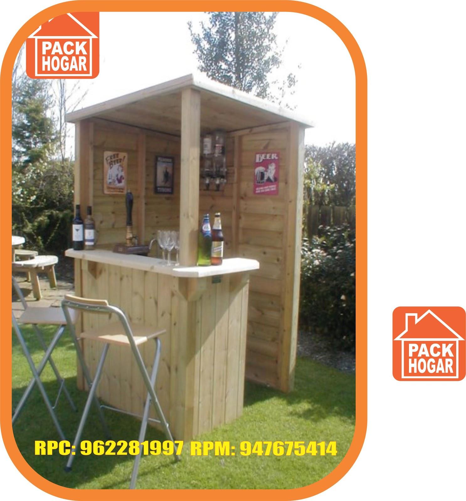 Casas de campo playa de madera barra bar para jard n for Casas de madera para el jardin