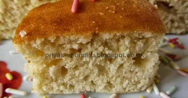Priya's Virundhu....: Simple & Versatile Vanilla Cake