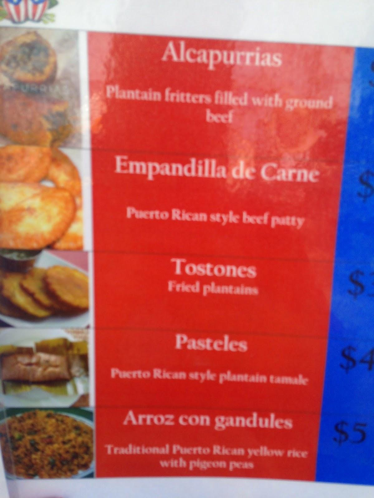 Senor Juan Food Truck Menu