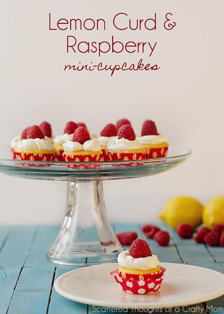 Lemon Curd and Raspberry Mini- Cupcakes