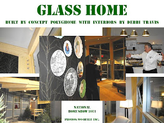 PolygHome glass home, National Home Show Toronto 2011, photo-collage by wo-built inc.
