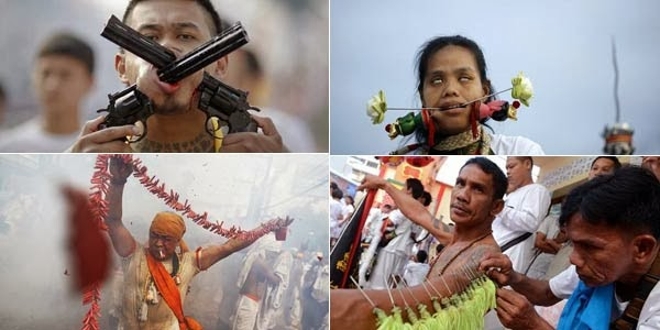Ngeri, Festival Mutilasi di Thailand
