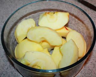 Camotes con Manzanas Fritas