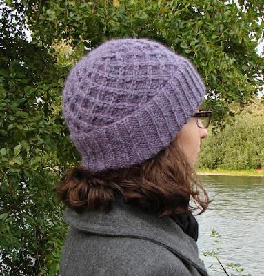 hat, lattice, baby alpaca, yarn, purple, beanie, knit, knitting, cables