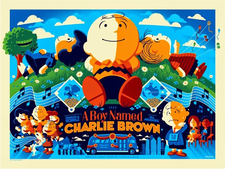 A Boy Named Charlie Brown Variant Screen Print by Tom Whalen