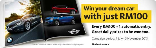Contest period: 4 July - 3 November 2013
