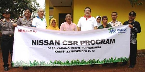 Nissan Bangun Rumah Layak Huni di Purwakarta