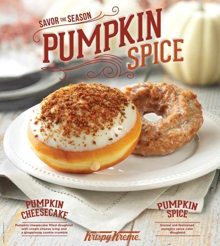 ... pumpkin spice doughnuts and latte, and the introduction of the new