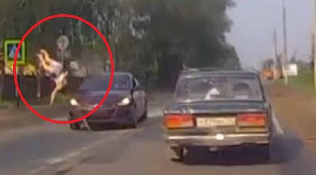 Βίντεο-σοκ: Μεθυσμένος οδηγός παρασέρνει έγκυο που περνά από διάβαση πεζών