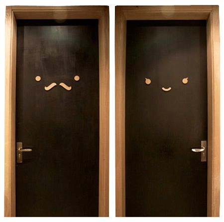 Charmant For My Commitment Phoebes {donu0027t Worry, Iu0027m One Of Them Too} When I Saw  This I Thought To Myself, Why Not Paint The Bathroom Doors With Chalkboard  Paint And ...