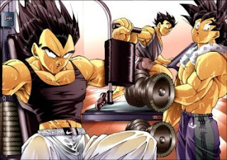Dragon Ball Z working out