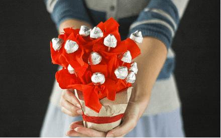 sevgiliye el yapımı çikolata