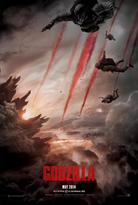 Godzilla 2014 Poster 'Halo Jump'