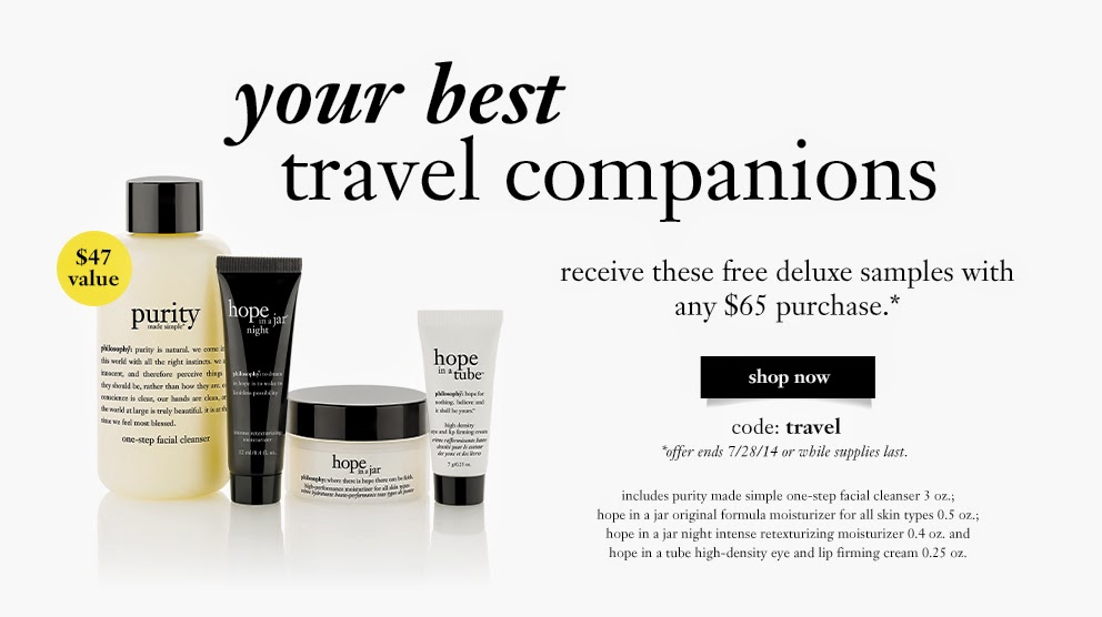 Philosophy Skin Care Freebie: Free Travel Gift Set with Purchase ...